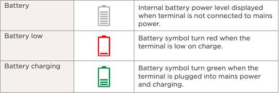 Battery terminal display