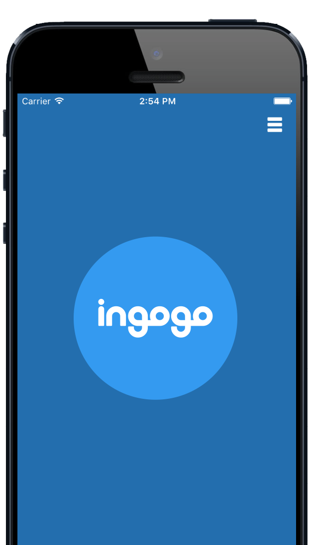 ingogo app on iPhone